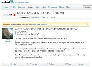 MCB Centar Beograd LinkedIn grupa