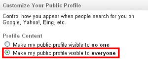 Vidljivost LI profila