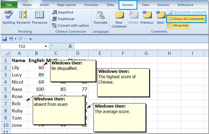 Ćelijski komentari i označvanje boja u Excelu