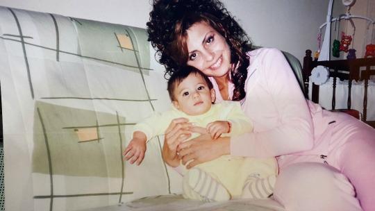 Dragana sa sinom Ognjenom 2004. godine