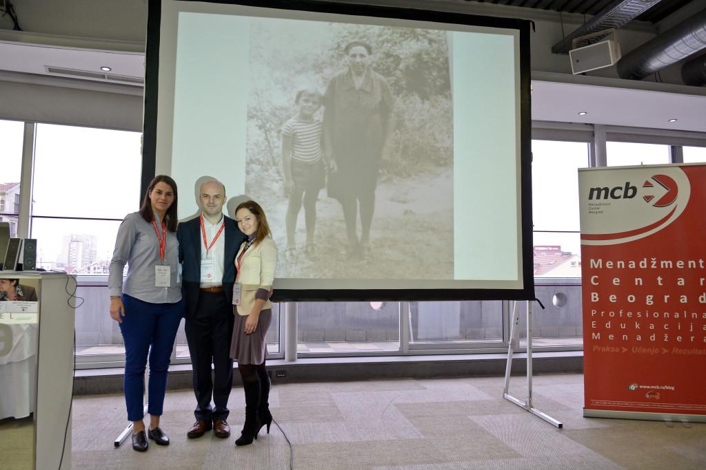 Milica Altgelt, Bojan Šćepanović, Marija Švigir (i Bojanova baba Milijana)
